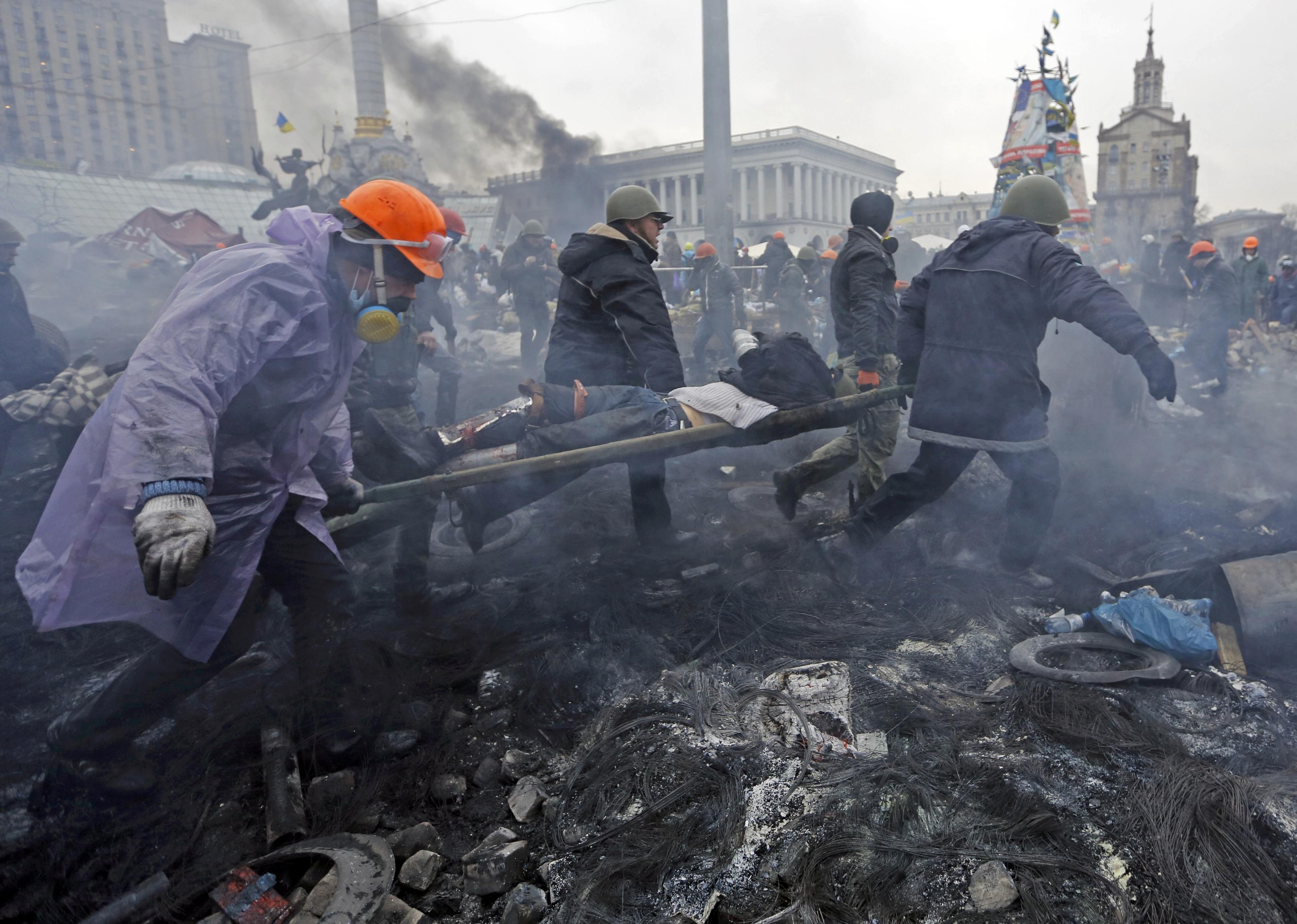 Медики-волонтеры на Майдане, 20 февраля