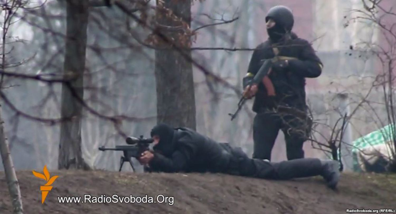 Снайпера, расстреливавшие людей в центре Киева