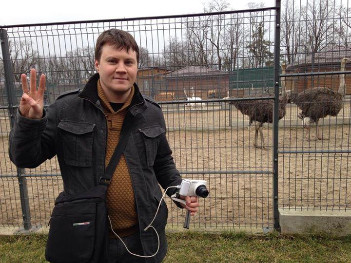 Загоны для страусов в Межигорье