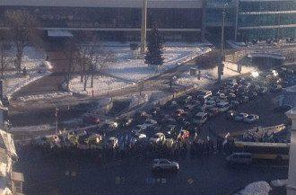 Колонна Антимайдана на площади Славы, 3 февраля