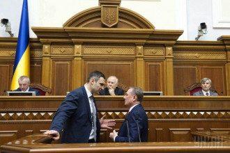 Александр Ефремов и Виталий Кличко