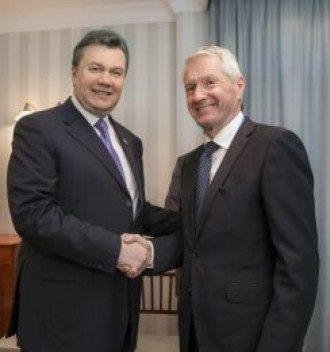 Виктор Янукович и Торбйорн Ягланд