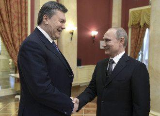 Виктор Янукович и Владимир Путин в Сочи