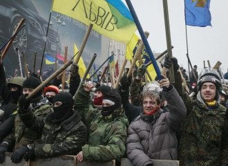 Марш самообороны Майдана, иллюстрация