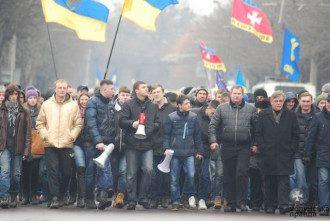 Участники вече в Луцке 9 февраля