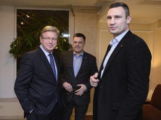 Встреча Фюле с оппозиционерами