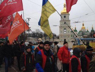 Марш в аоддержку забастовки