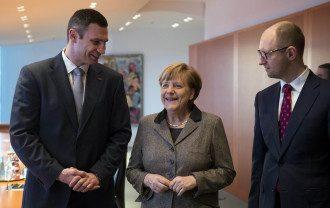 Лидеры украинской оппозиции на встрече с Меркель