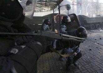 """""""Беркут"""" на Майдане, 18 февраля 2014 года"""