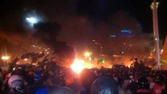 Штурм Майдана в Киеве