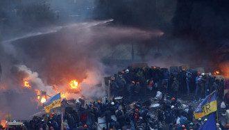 Майдан утром 19 февраля