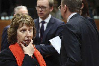 Кэтрин Эштон на заседании совета ЕС в Брюсселе