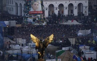 Портрет Тимошенко на Майдане