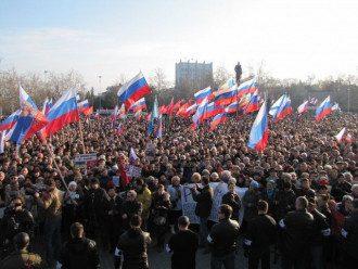 Пророссийский митинг в Севастополе