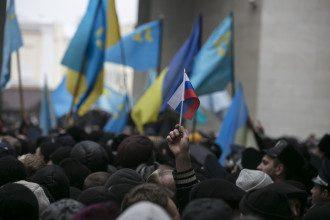 Митинги в Симферополе 26 февраля