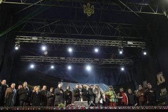 Вече на Майдане вечером в среду