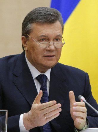 Янукович на пресс-конференции в Ростове-на-Дону