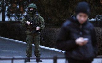 Крым заполонили российсие военные