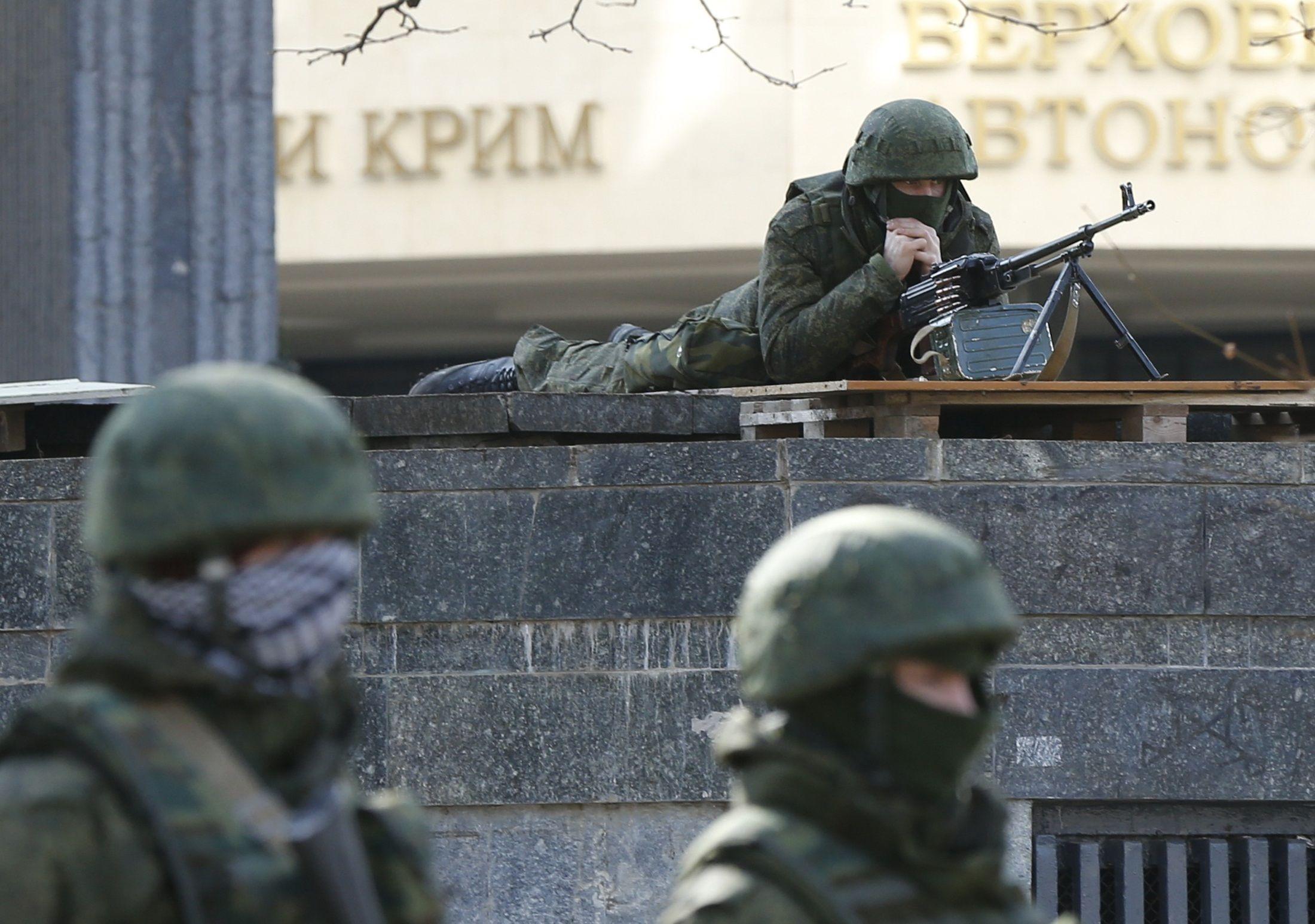 Захват Крыма, иллюстрация