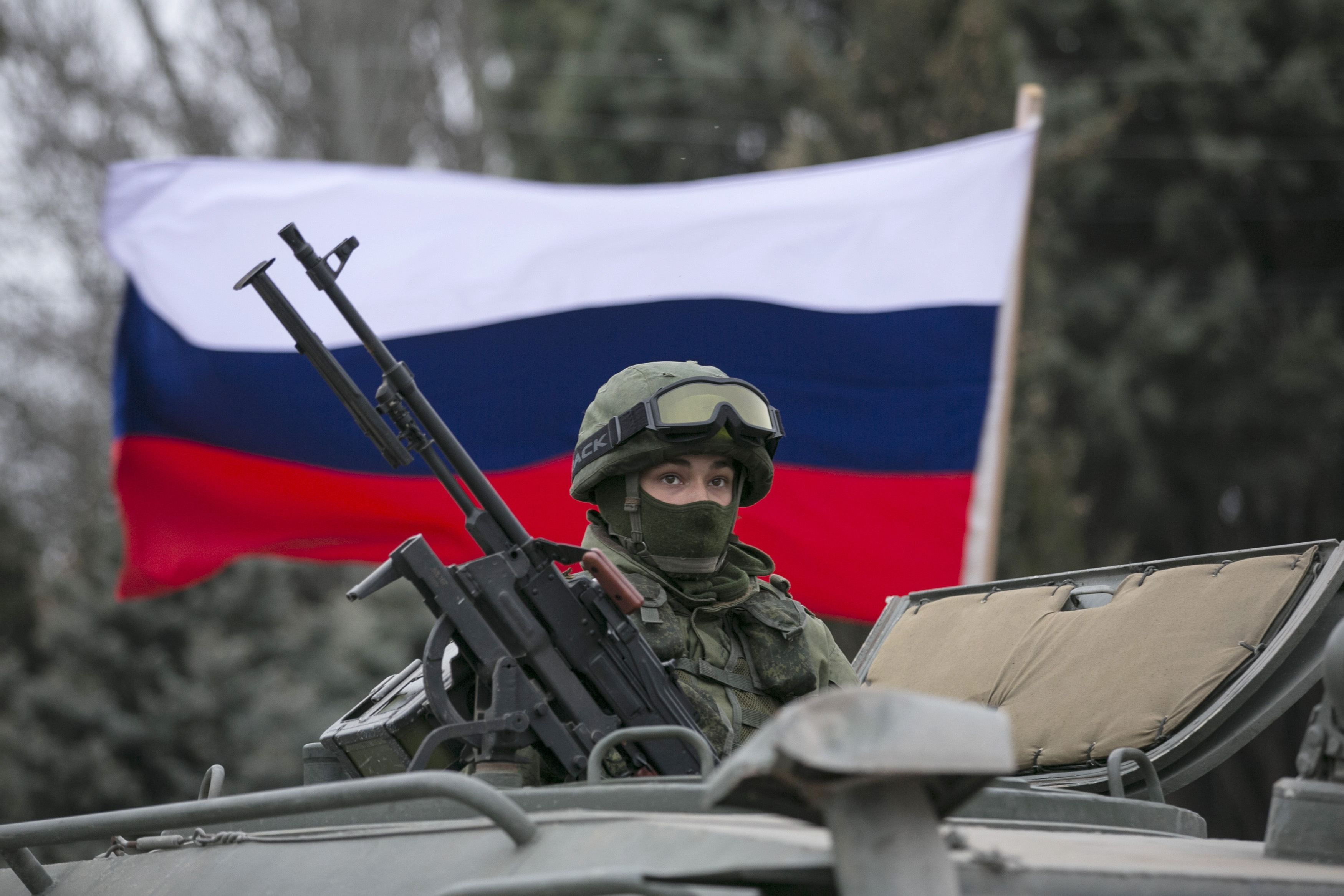 Российский оккупант в Крыму