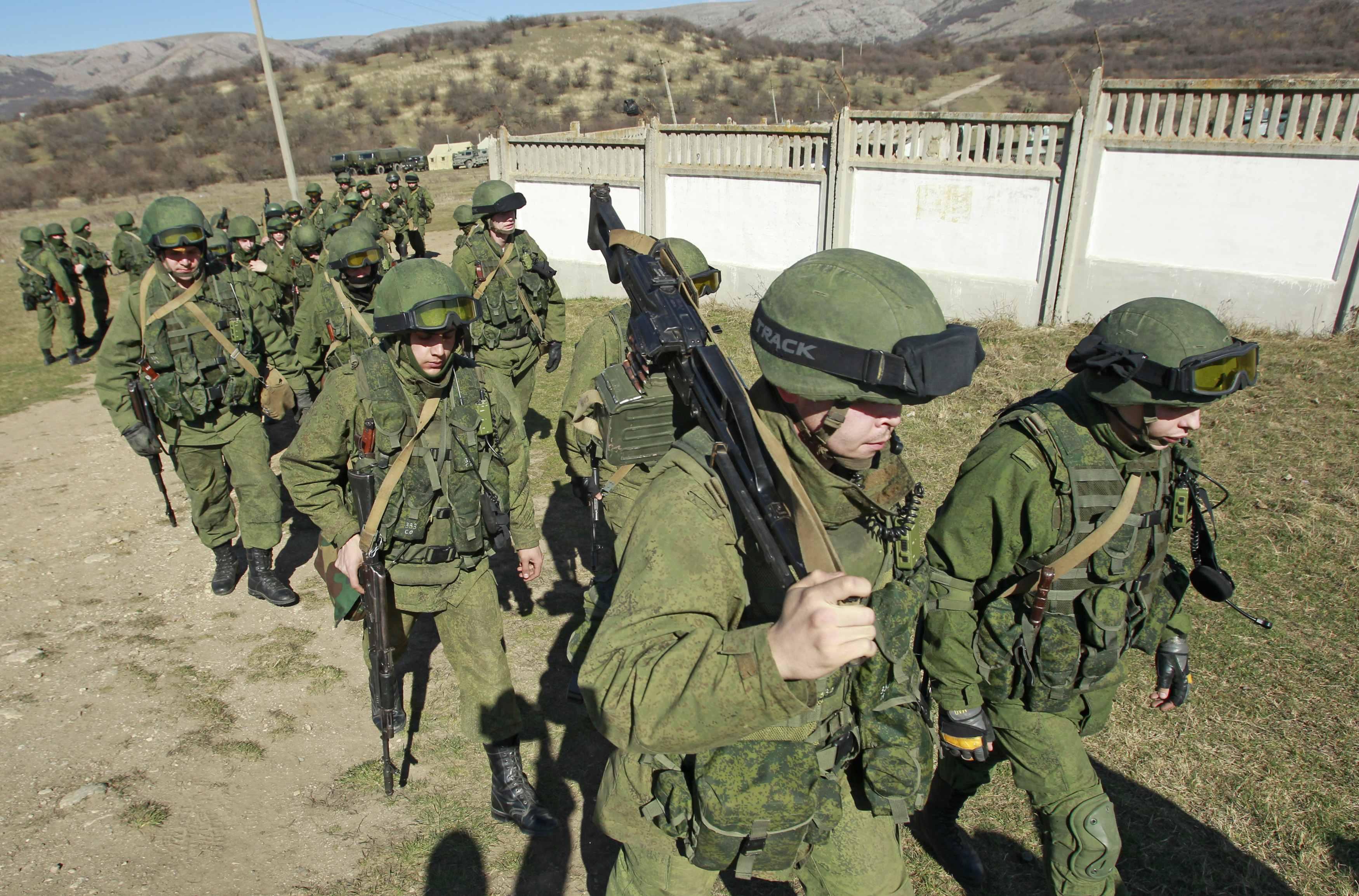Оккупанты в Крыму, иллюстрация