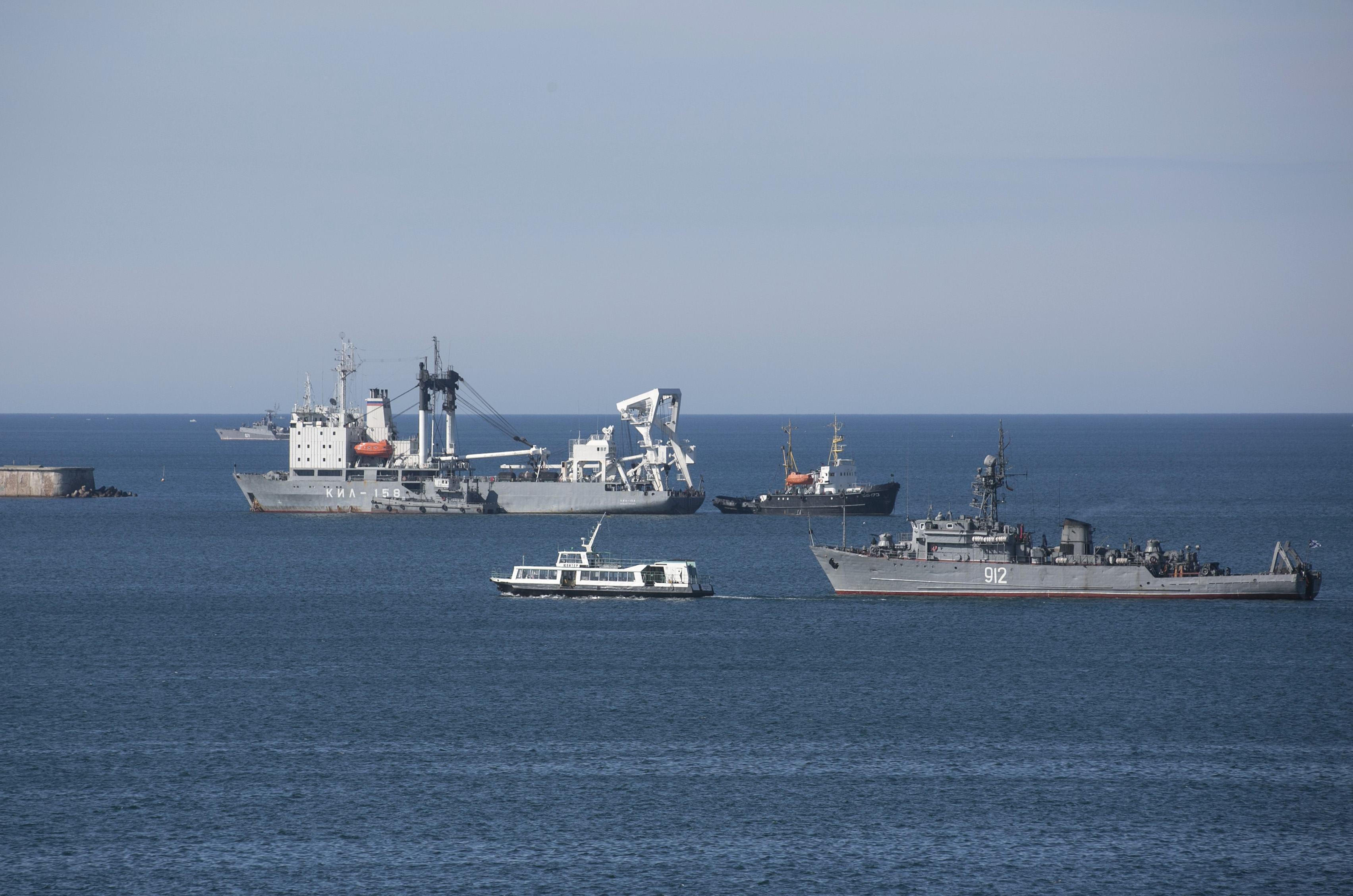 Черноморский флот, корабли, крым захват