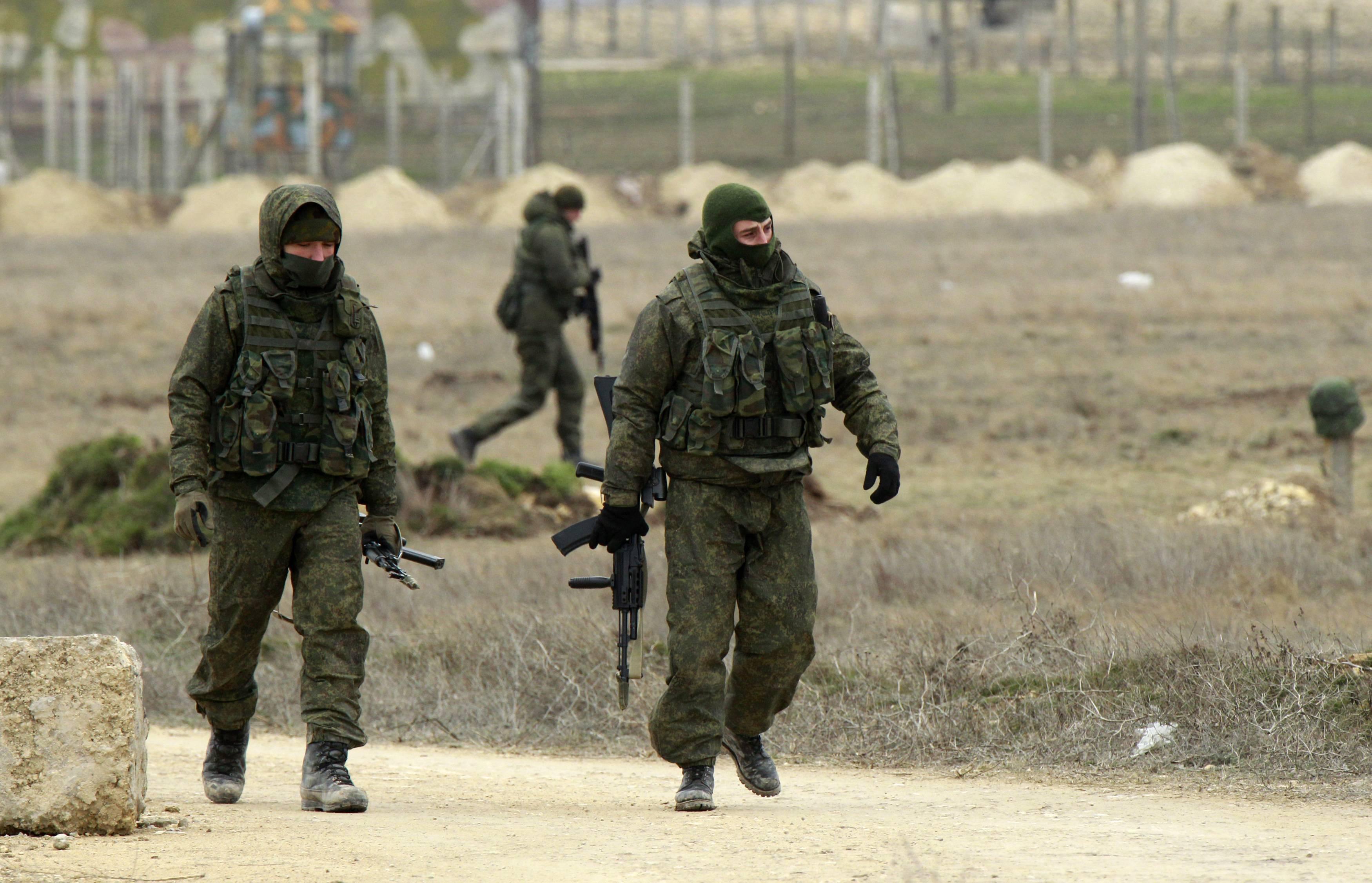 Российские оккупанты в Крыму