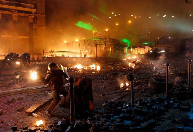 Штурм Майдана 18 февраля, иллюстрация
