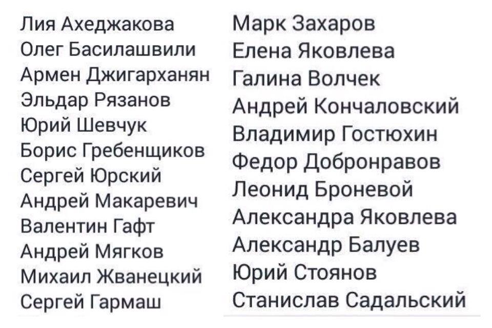 Список российских звезд, которые поддержали Украину