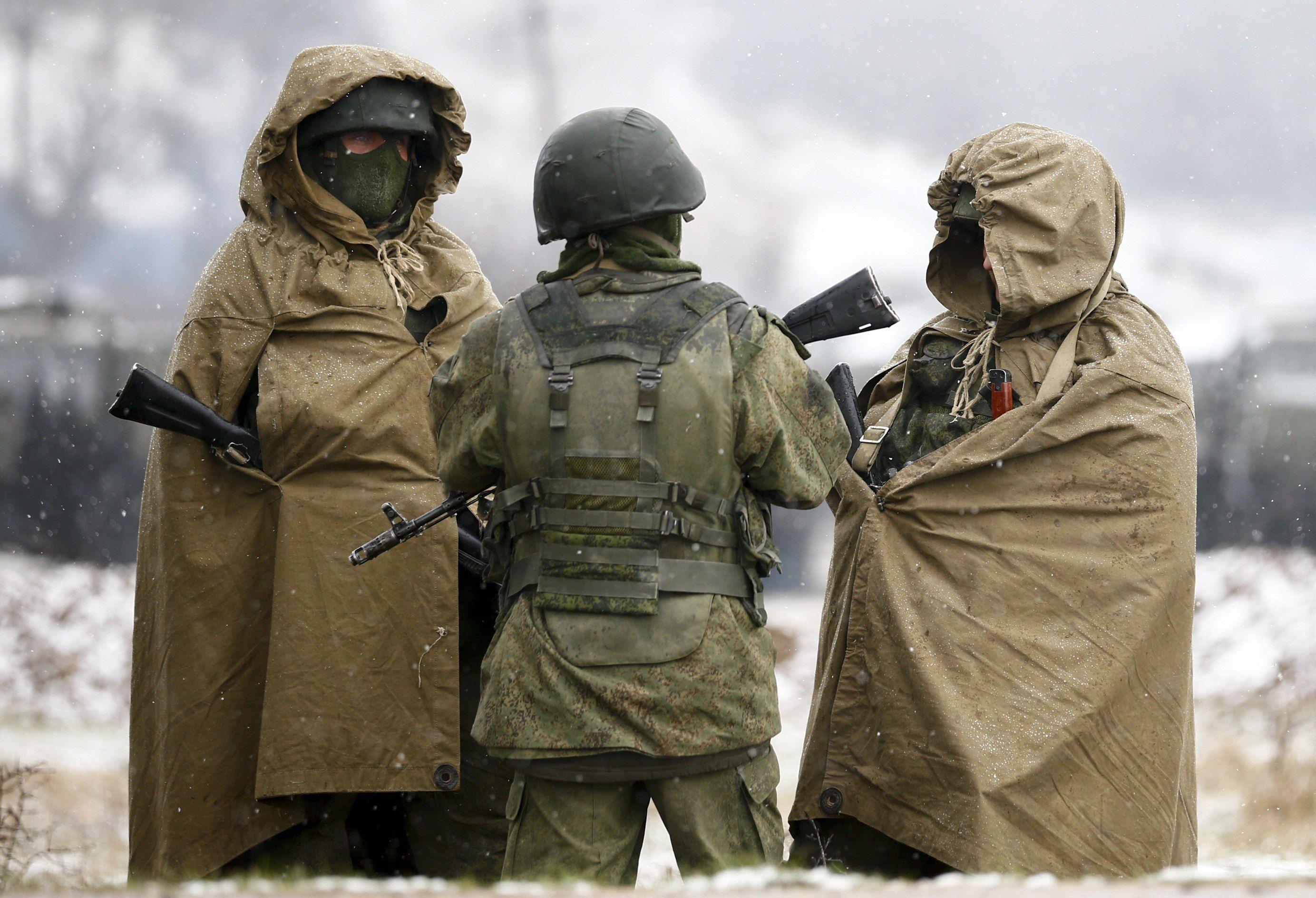 Российские солдаты в Крыму