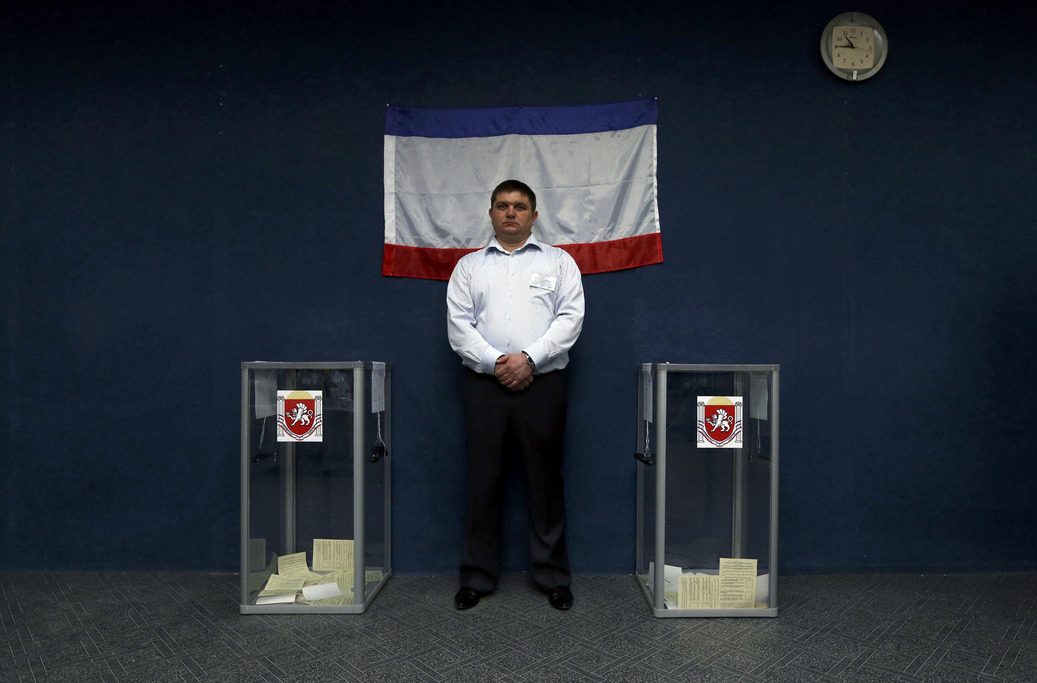 Один из участков во время референдума