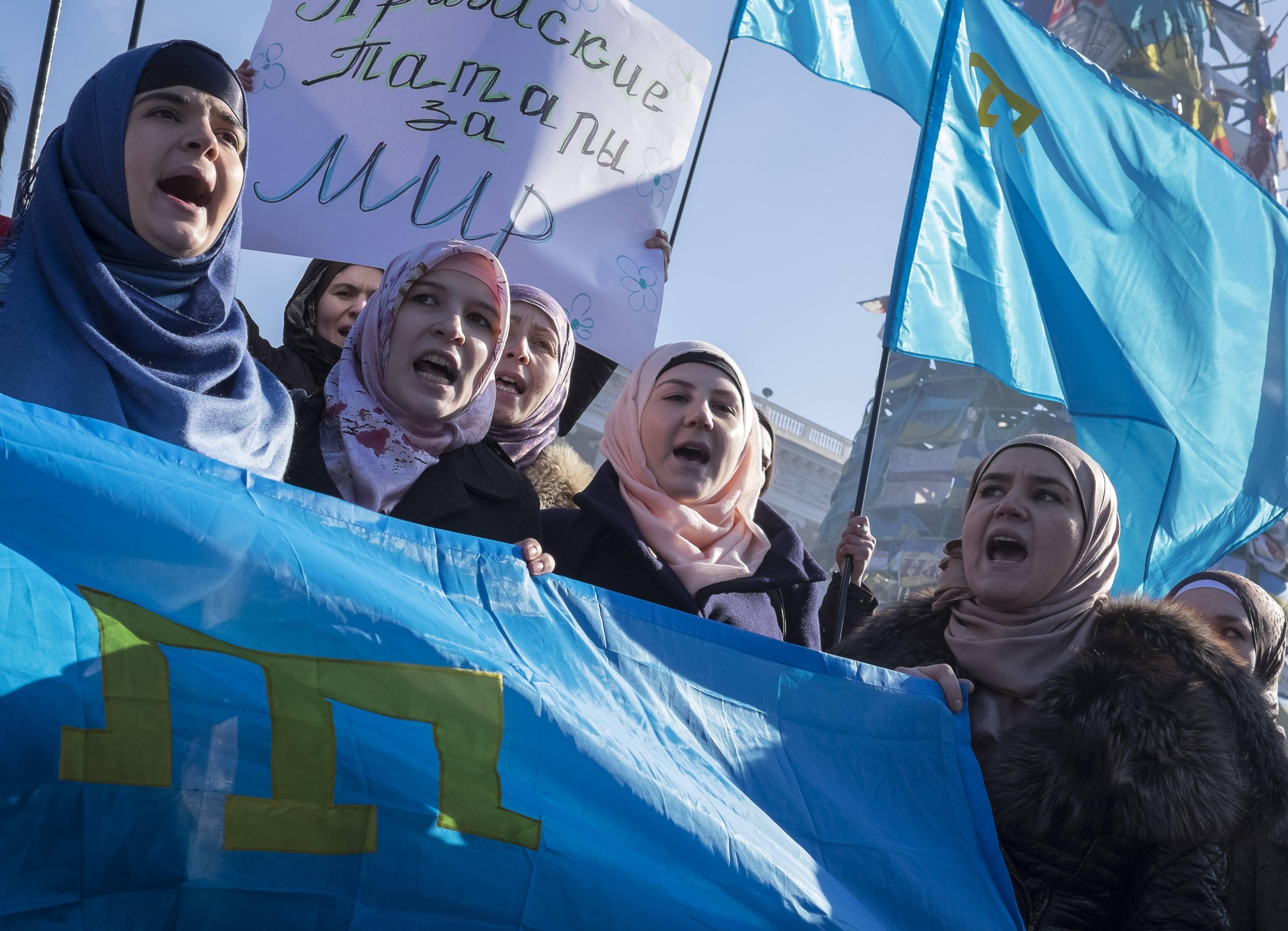 Митинг крымский татар