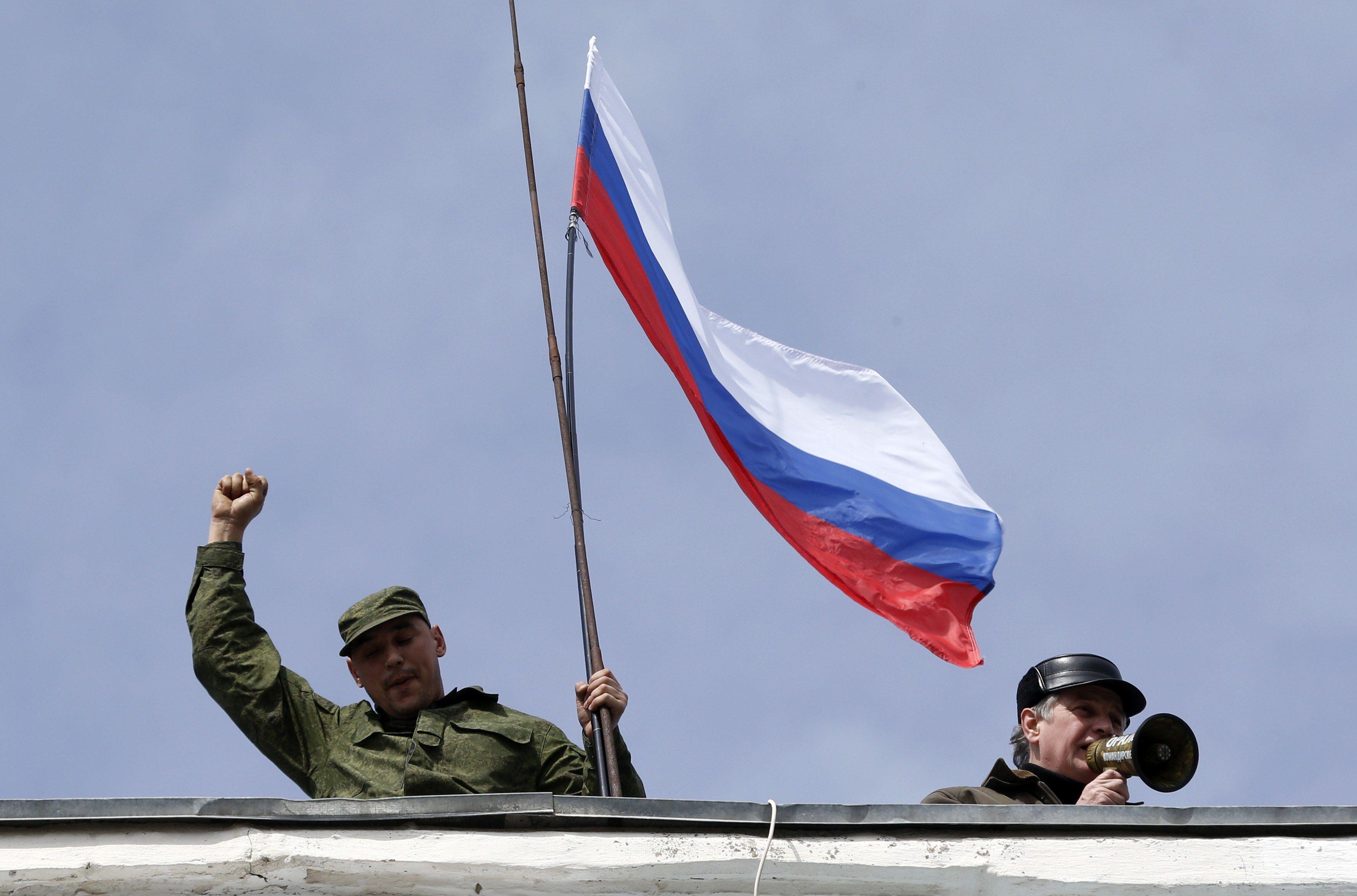 Над штабом ВМФ Украины подняли российский флаг