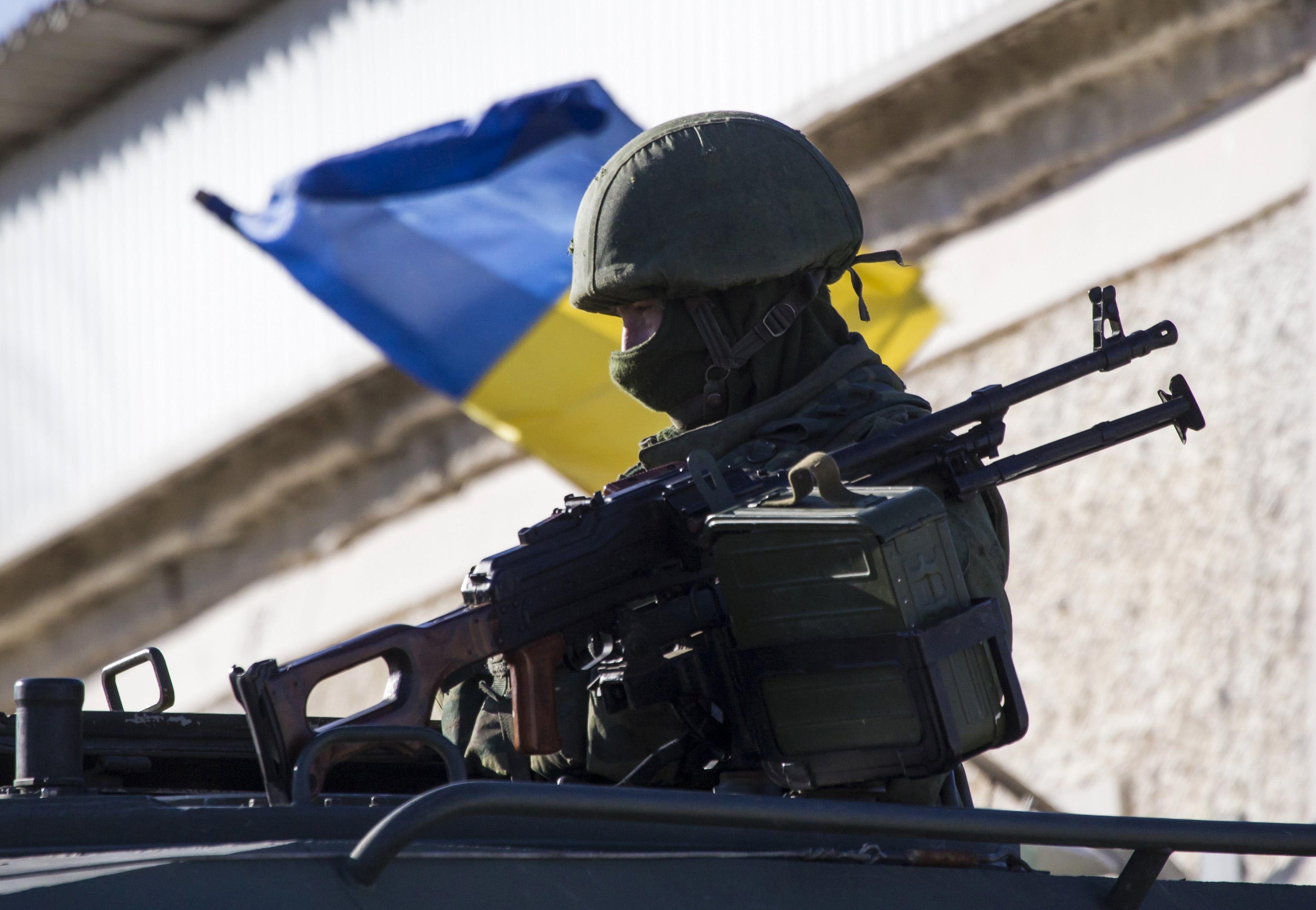 Российские военные оккупировали Крым