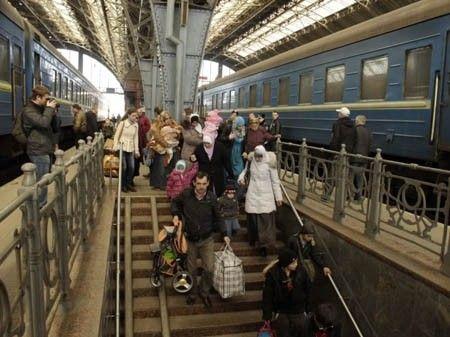 Беженцы из Крыма и юго-востока приехали на Львовщину.