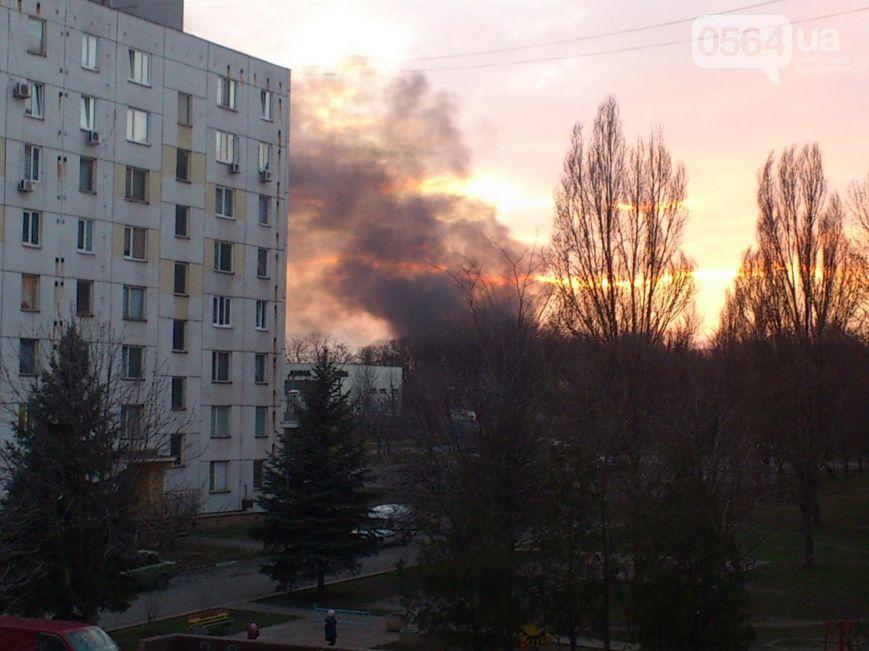 Пожар в танковой части в Кривом Роге