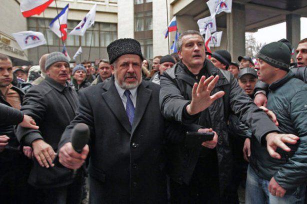 Рефат Чубвров и самозваный премьер Крыма Сергей Аксенов