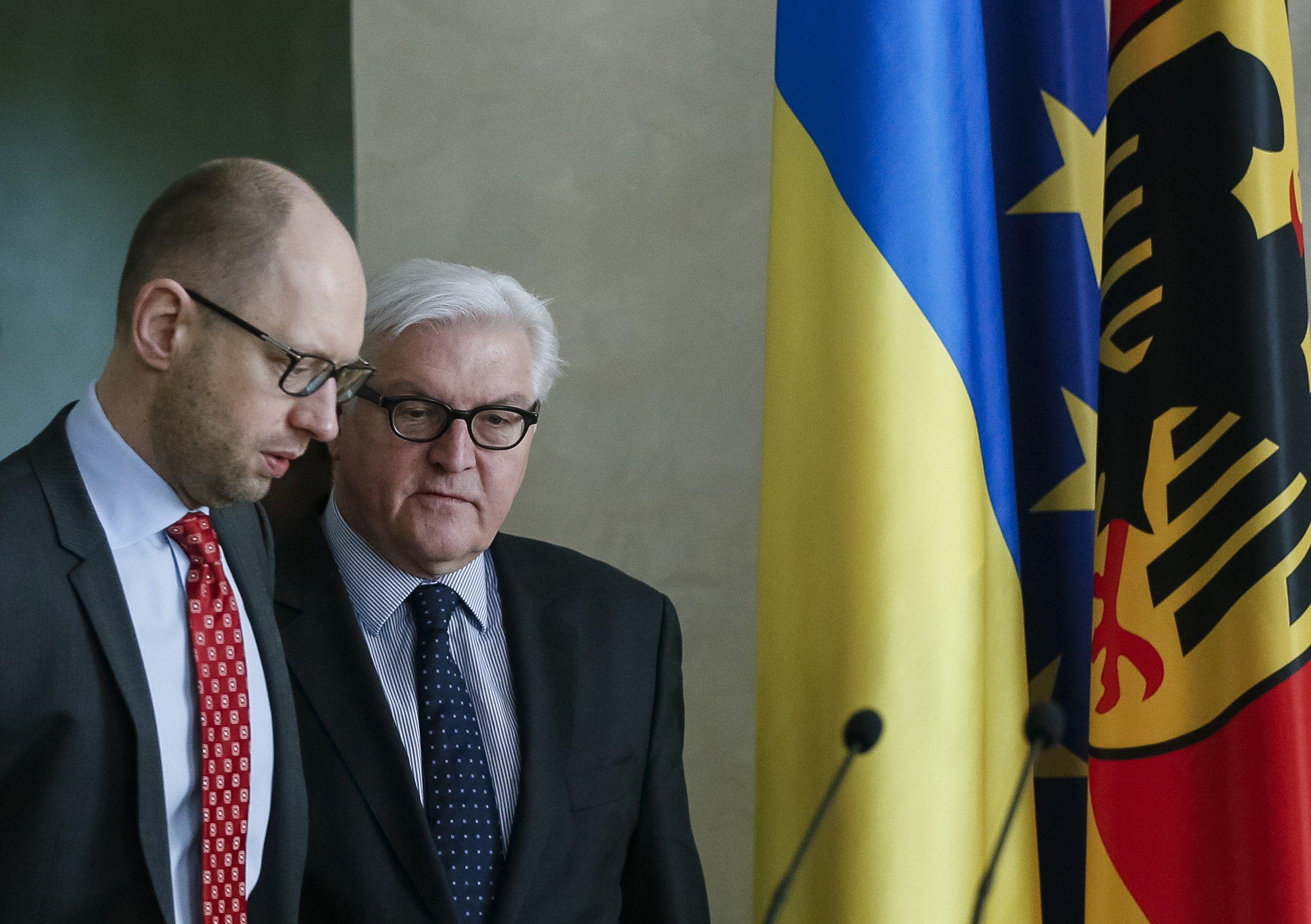 Встреча Штайнмайера и Яценюка