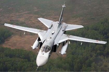 Российский бомбардировщик Су-24М
