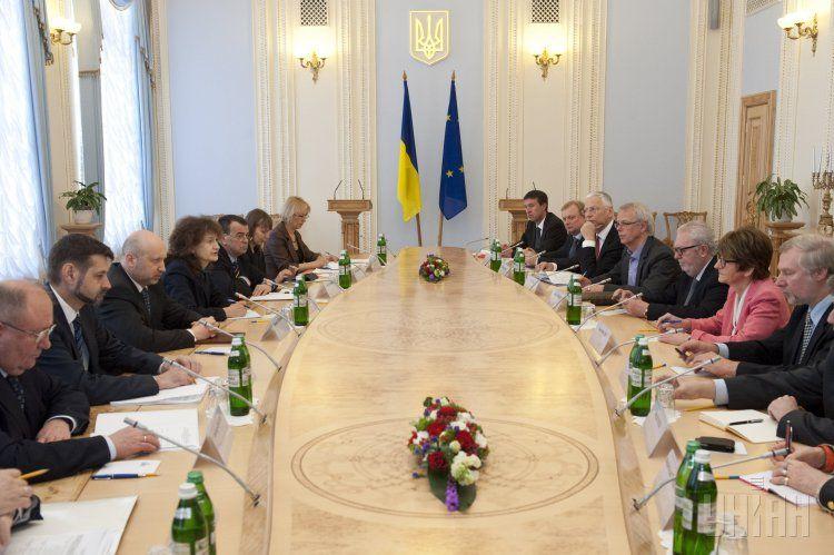 Встреча представителей украинской власти с делегацией ПАСЕ