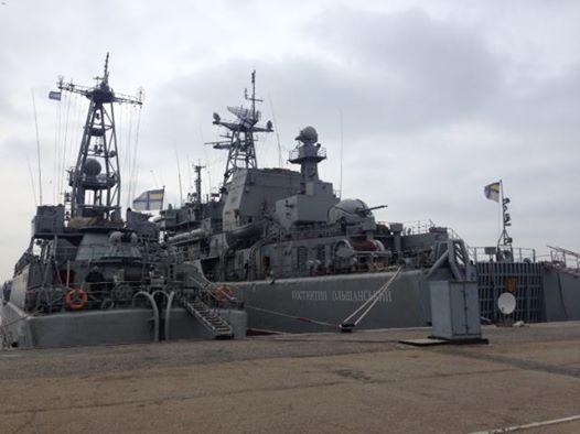 Украинские военные корабли на Донузлаве