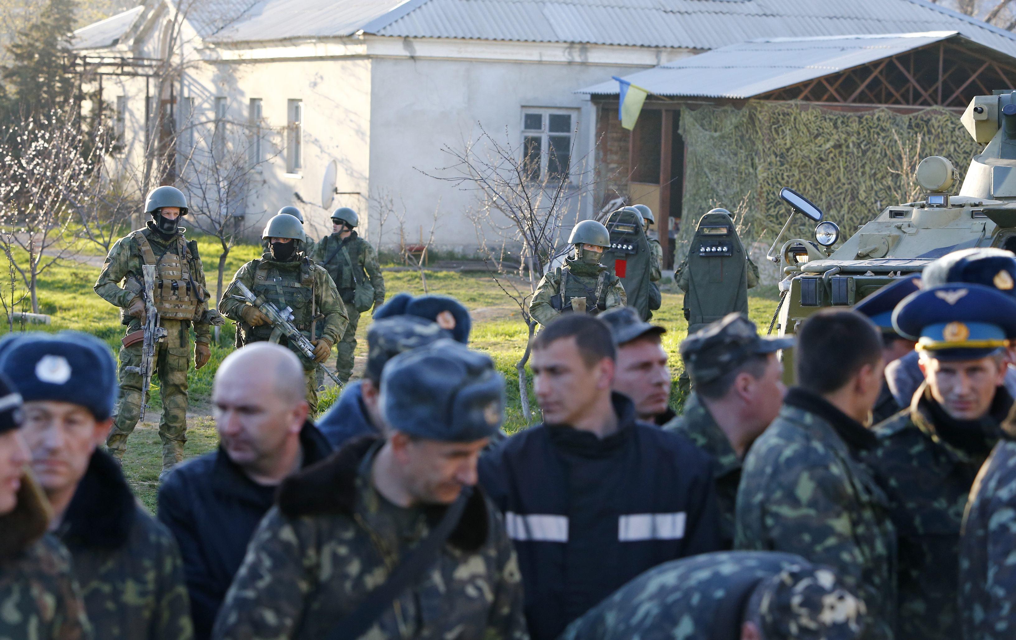 Захваченные украинские военные в Бельбеке