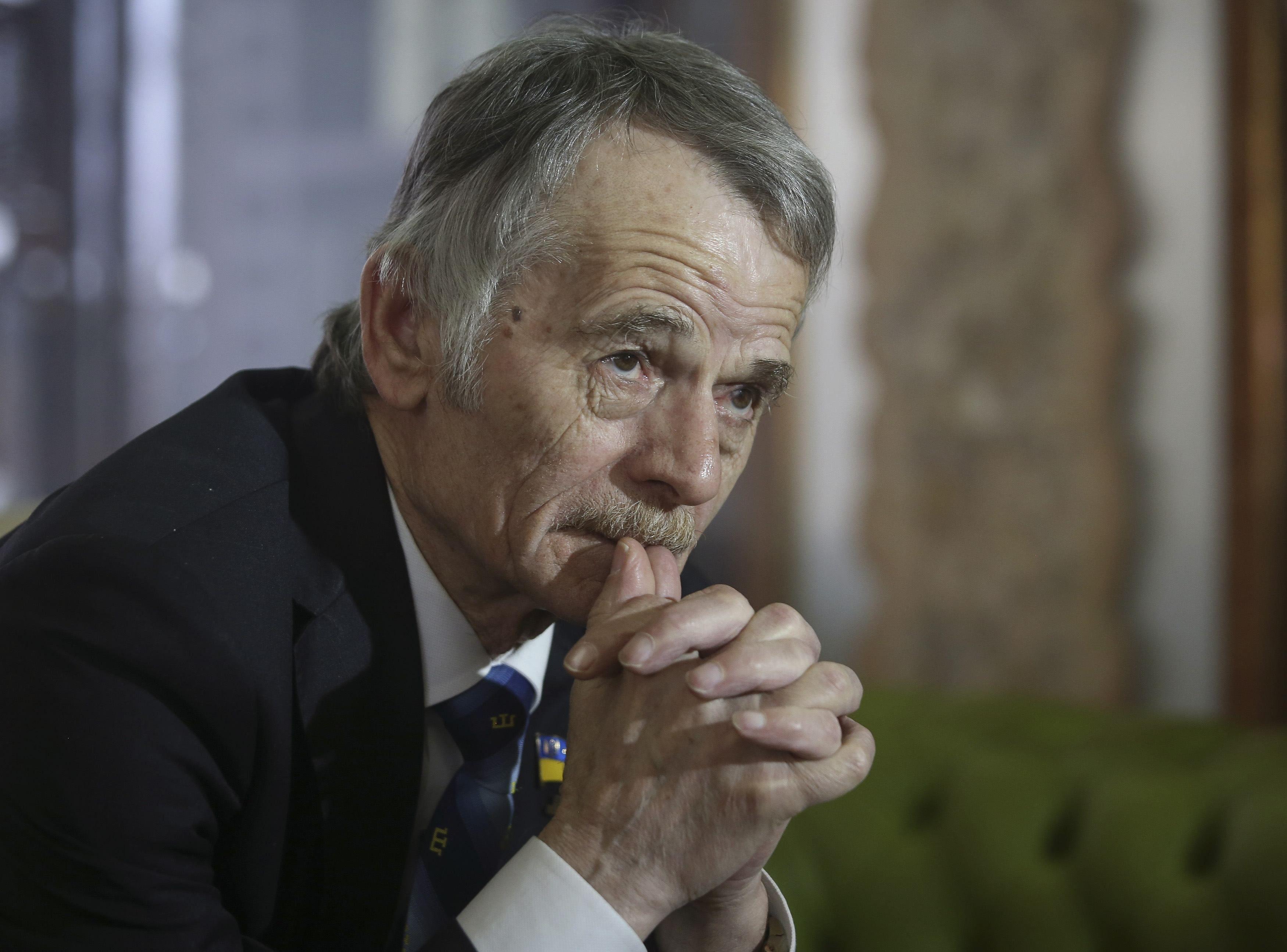 Один из лидеров крымских татар Мустафа Джемилев