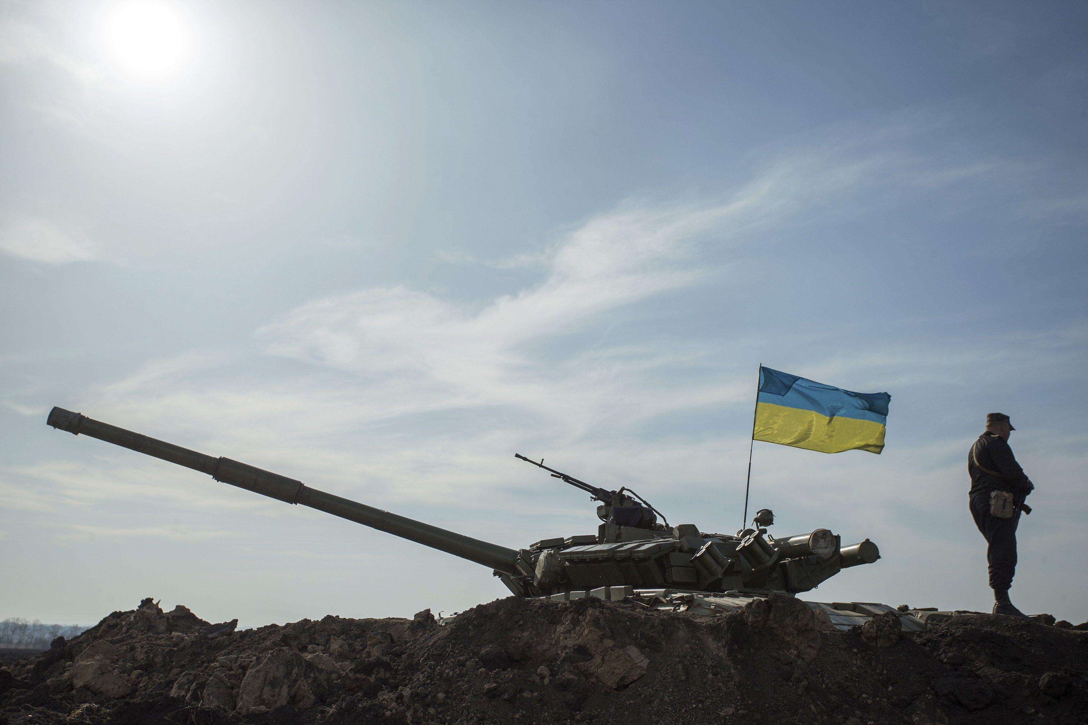Украинский танк на границе с Россией, Харьковская область