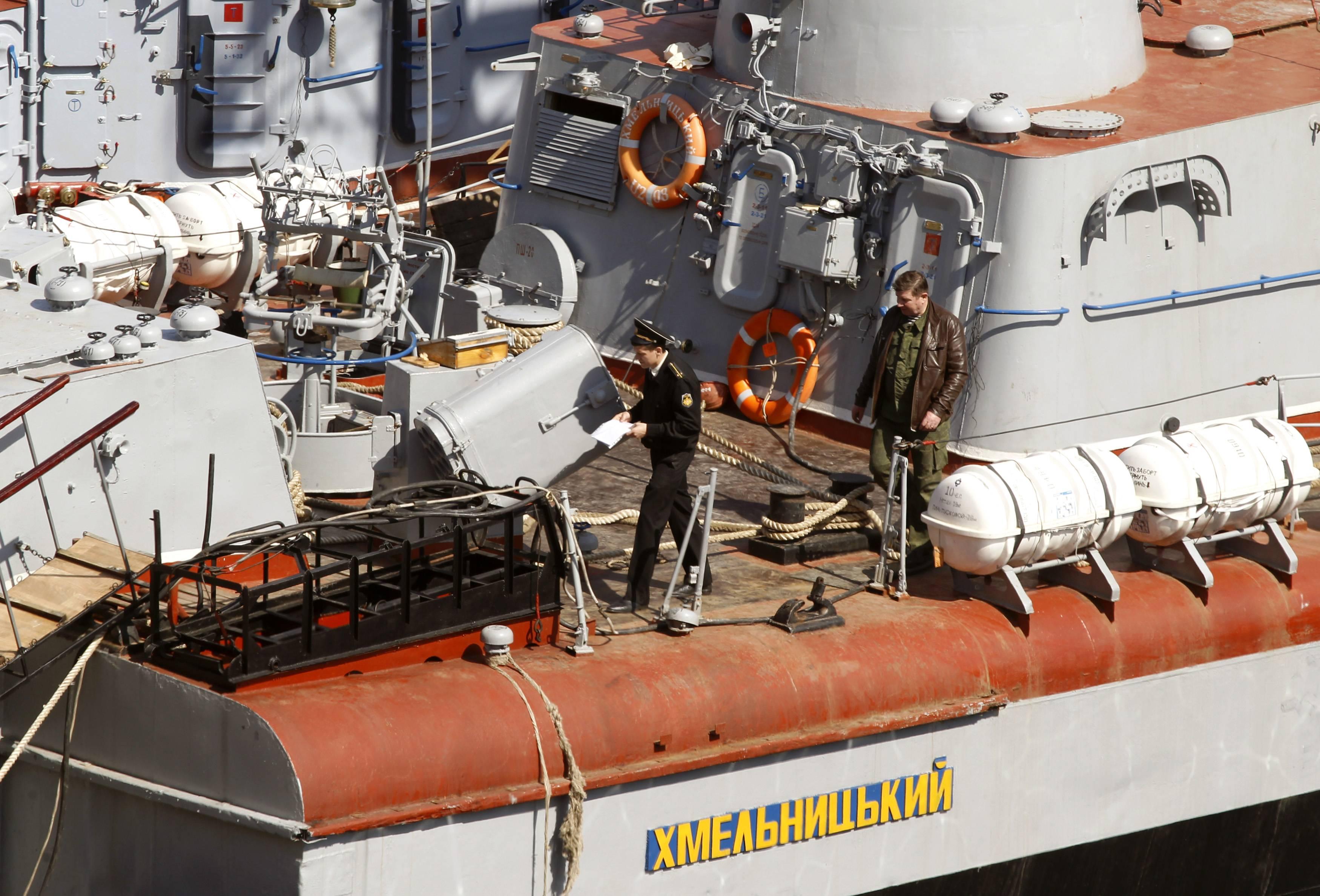 Российский офицер описывает имущество захваченного корабля