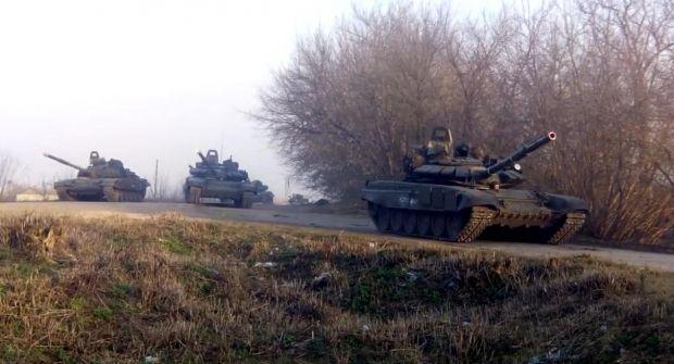Российские танки у границ Украины