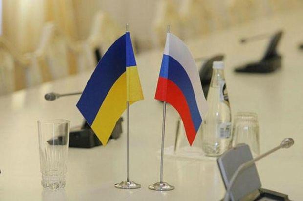 Флаги Украины и России, иллюстрация