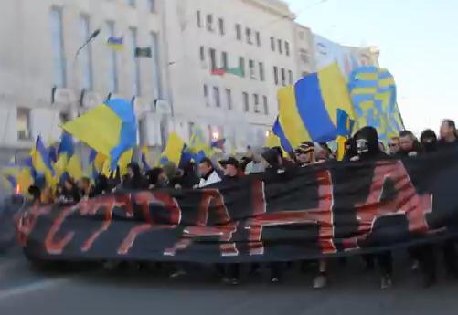 Марш ультрас в Харькове
