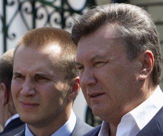 Виктор Янукович и его сын Александр