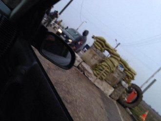 Блокпост на въезде в Крым